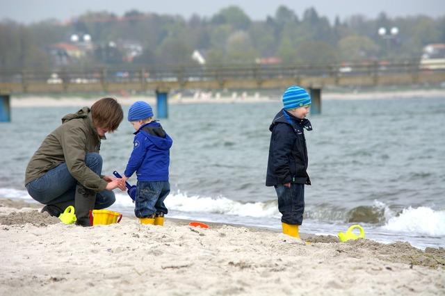 Human baltic sea beach, travel vacation.