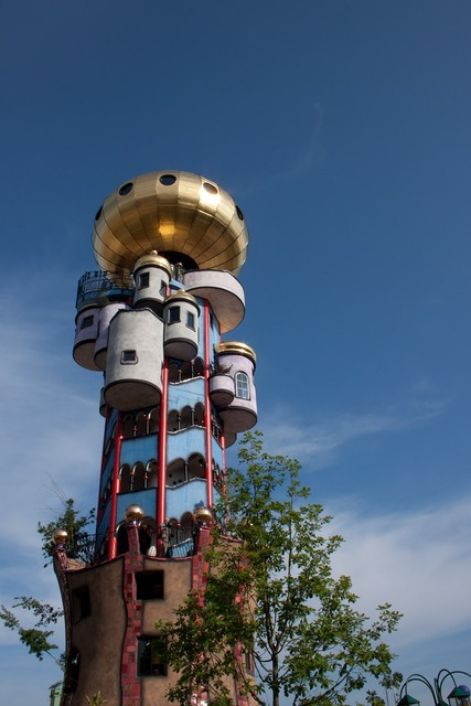 Hundertwasser architecture colorful, architecture buildings.