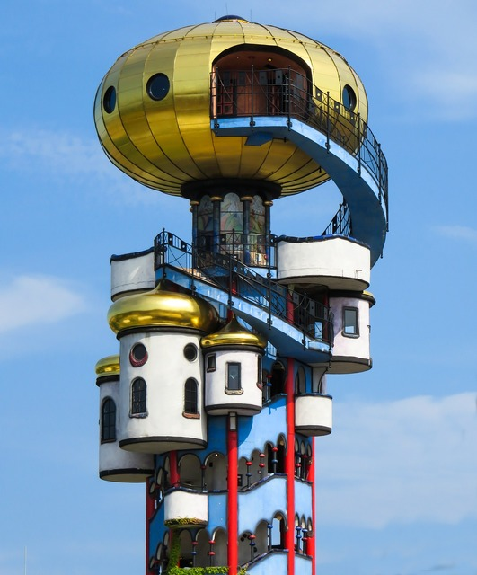 Hundertwasser art building, architecture buildings.