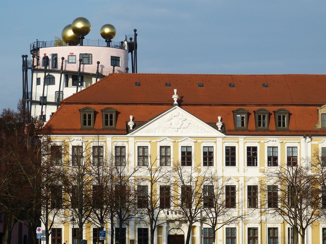 Hundertwasser magdeburg saxony-anhalt, architecture buildings.