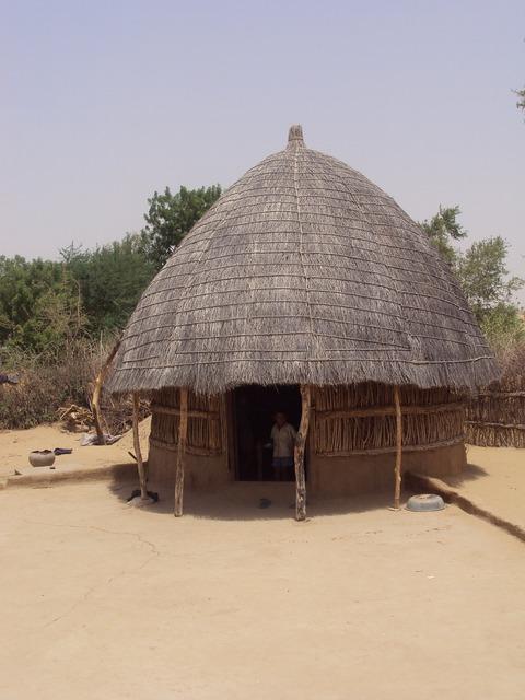 Hut desert india.