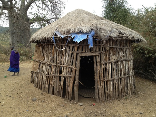 Hut dwelling africa, travel vacation.
