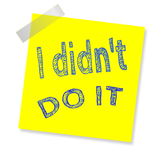 I didn't do it reminder post note.