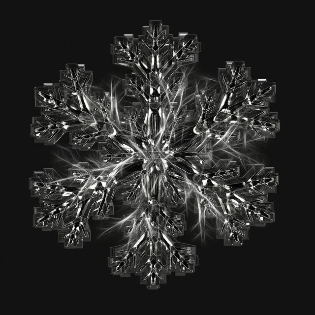 Ice crystal snowflake ice.