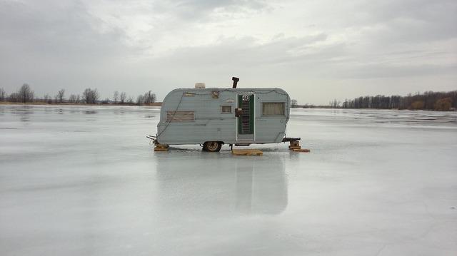 Ice fishing ice fishing hut ice, architecture buildings.