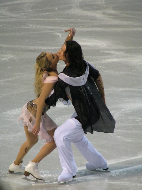 Ice skating dancing competition, sports.