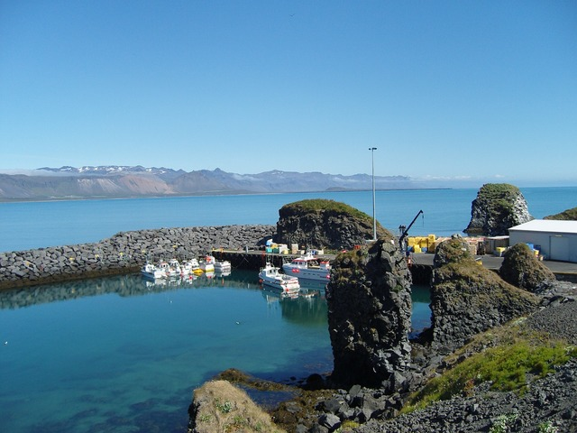 Iceland boats water.