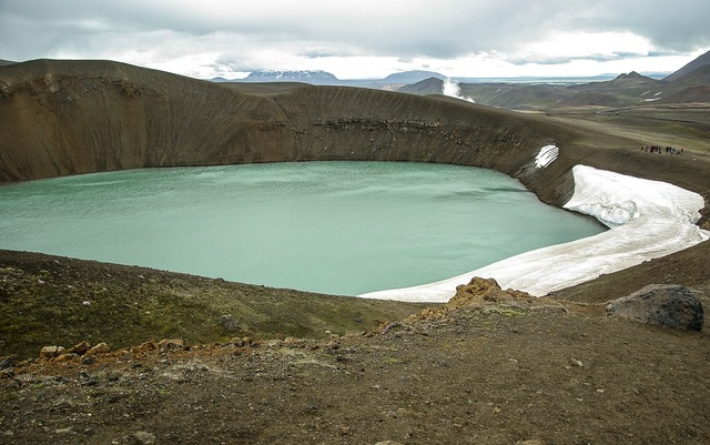 Iceland crater volcano.