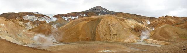 Iceland desert soufriere, nature landscapes.