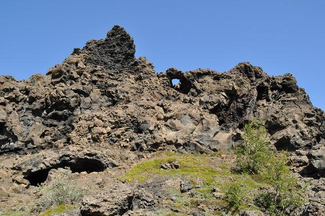 Iceland dimmuborgir rock.