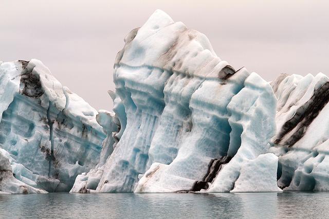 Iceland driving iceberg steam.
