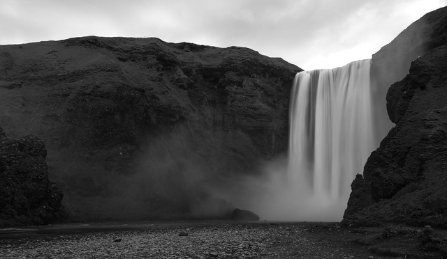 Iceland falls the scenery.