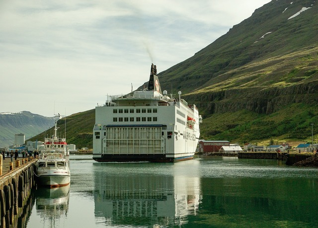 Iceland ferry fjord.