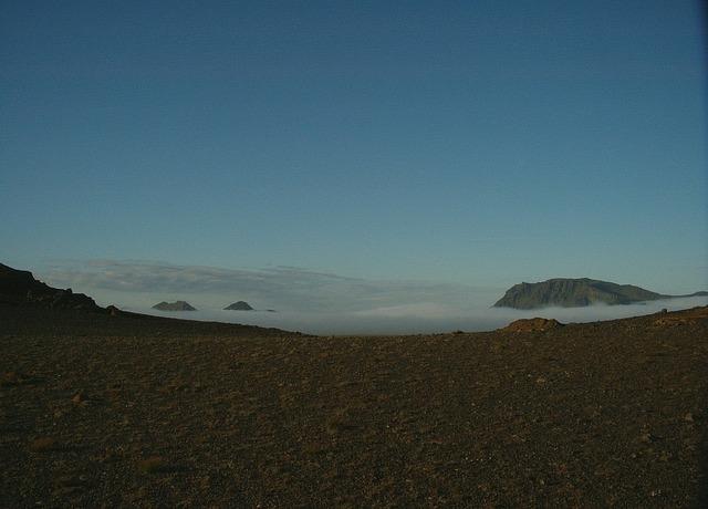 Iceland fog flat.