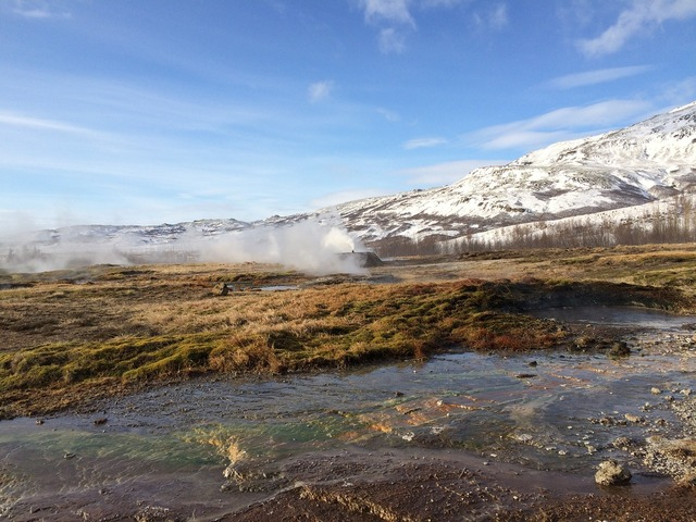 Iceland geyser ice.