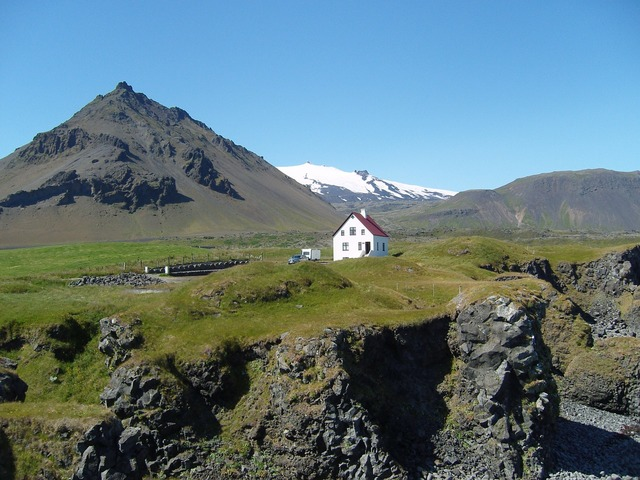 Iceland glacier home, architecture buildings.