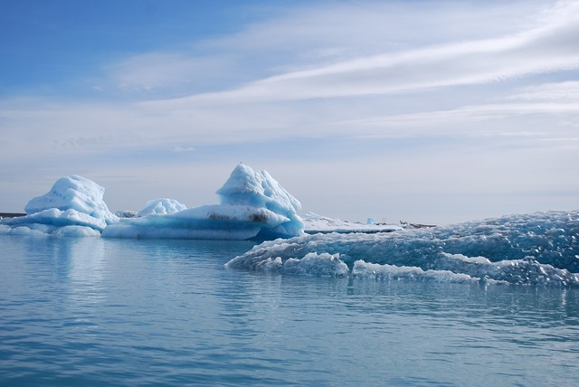 Iceland glacier ice.