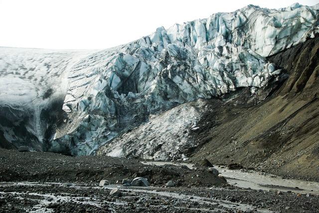 Iceland glacier torrent.