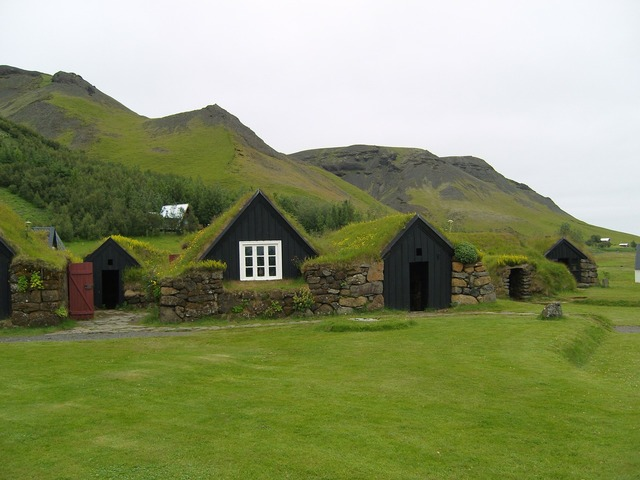 Iceland green rush, architecture buildings.