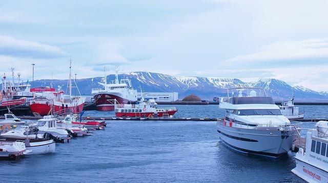 Iceland harbor reykjavik.
