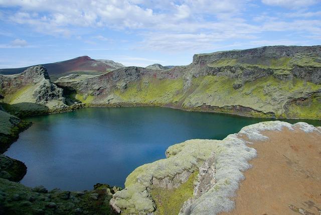 Iceland lake foam.
