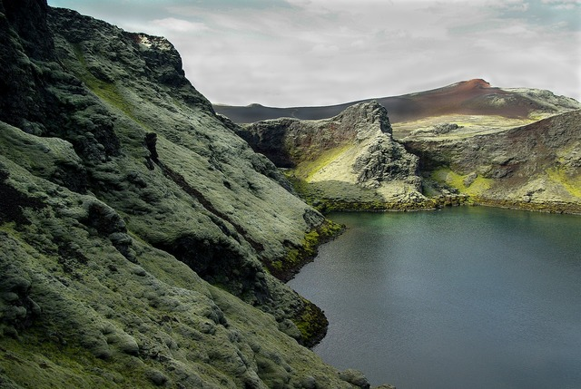 Iceland laki lake.