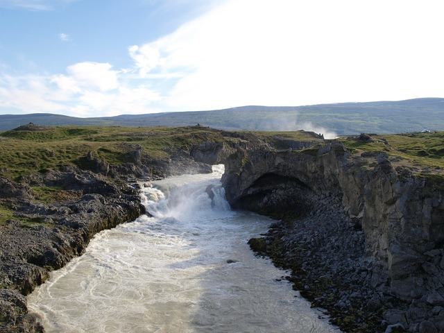 Iceland landscape water river.