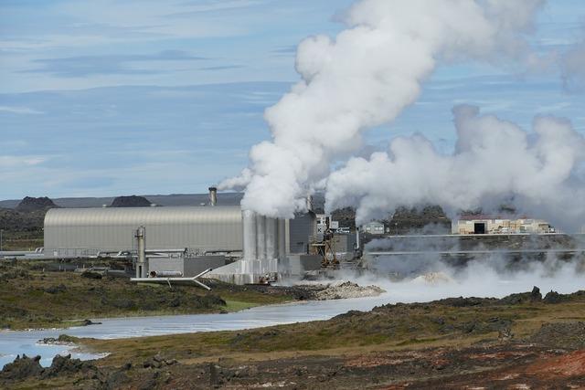 Iceland power plant geothermal energy.
