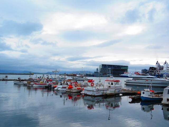Iceland reykjavik port.