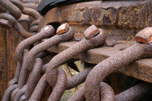 Iceland ship chains.