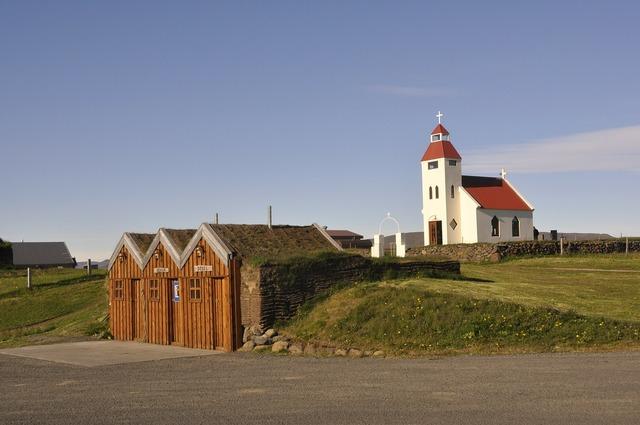Iceland village church, religion.