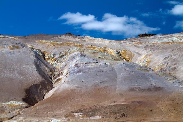 Iceland volcanoes geyser.