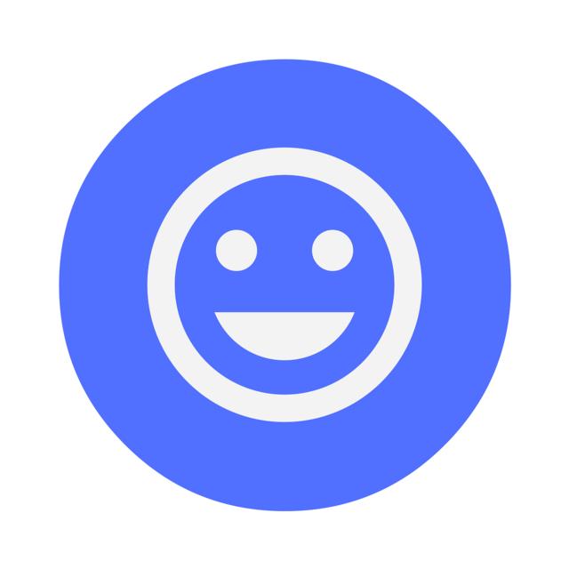 Icon happy customer, emotions.
