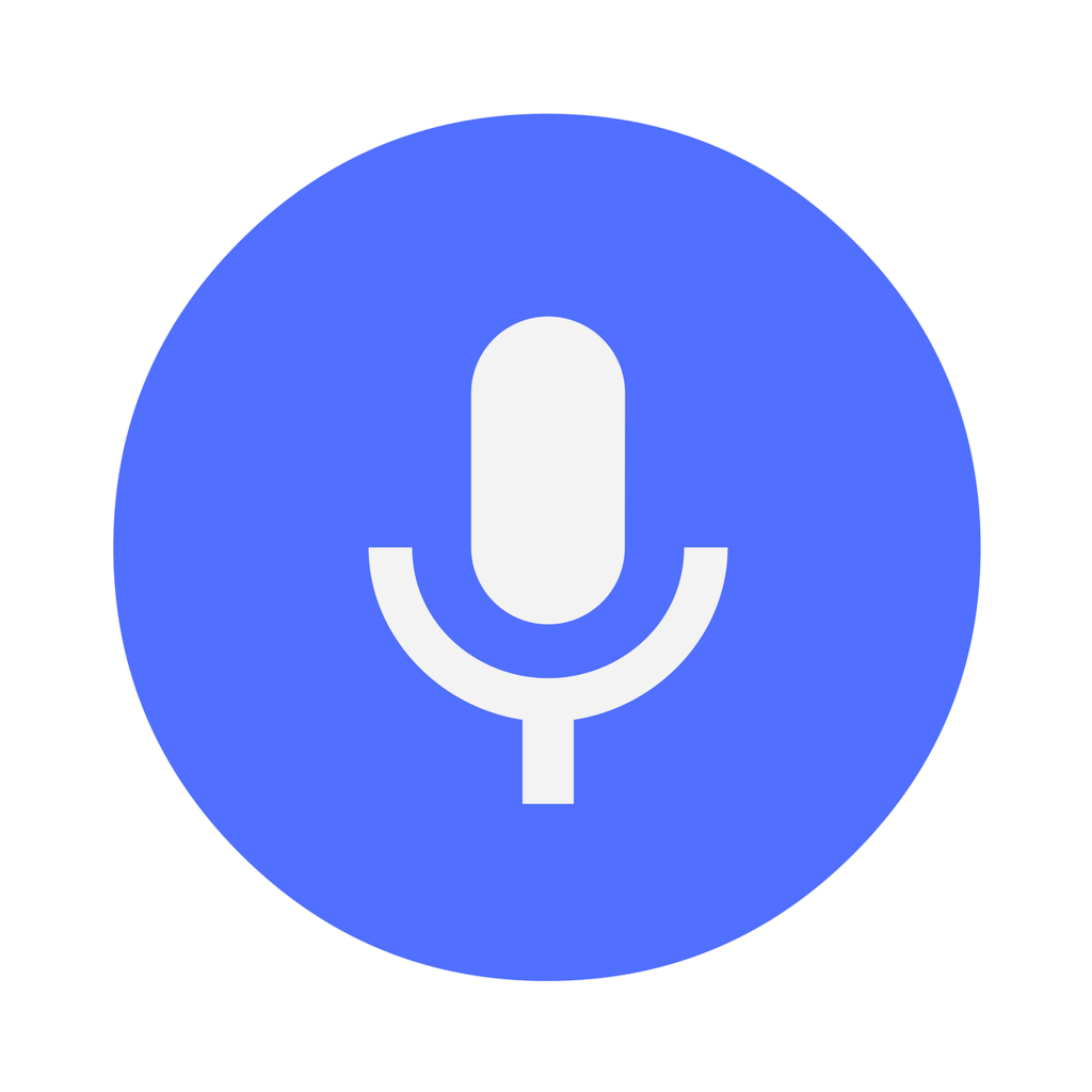 Icon microphone voice, computer communication.