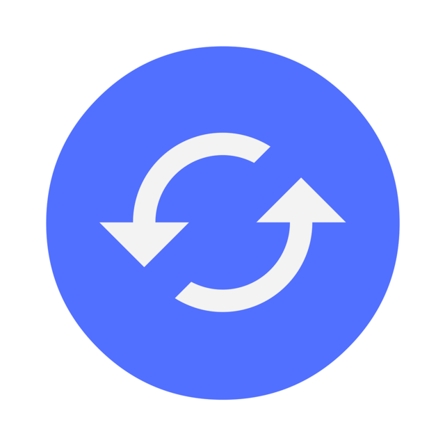 Icon reload refresh, computer communication.