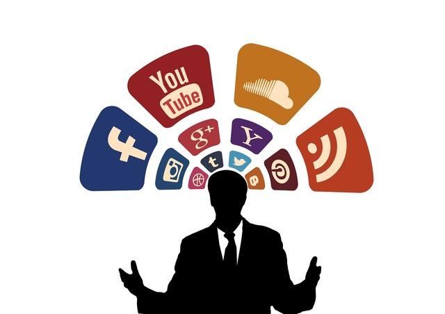 Icon set social media contact, computer communication.