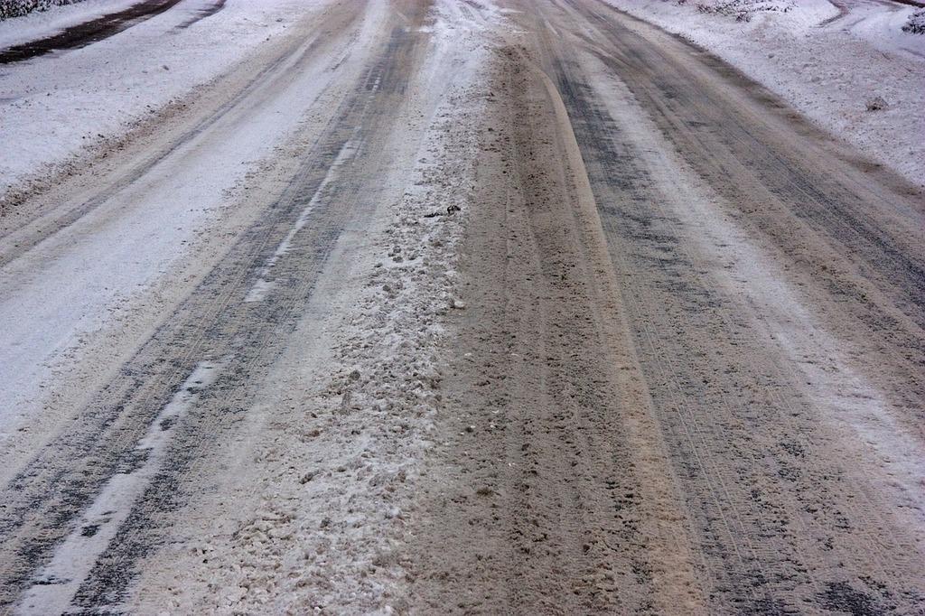 Icy roads snow smoothness slush, transportation traffic.