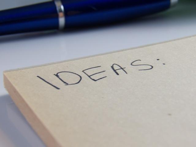 Ideas notes pen, industry craft.