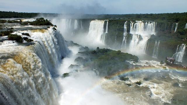 Iguazu waterfalls river.