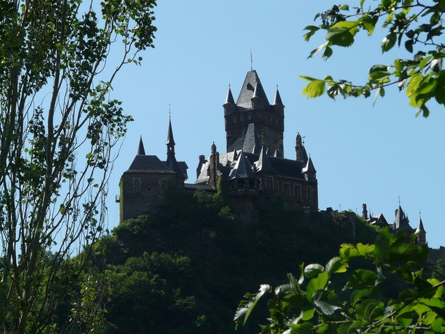 Imperial castle castle cochem, nature landscapes.