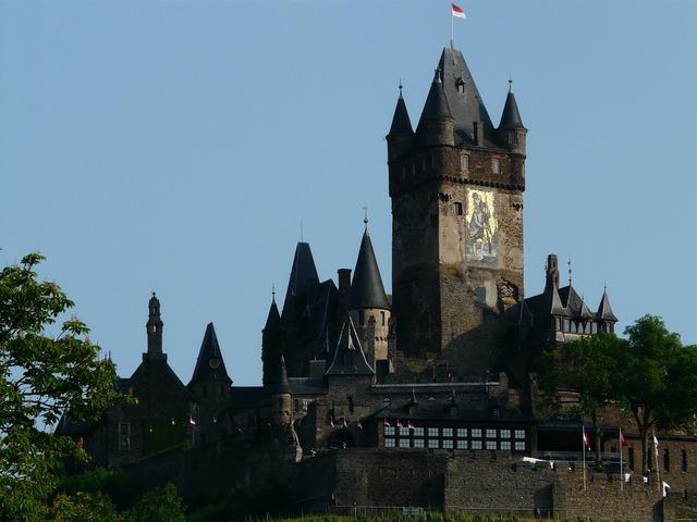 Imperial castle castle cochem, nature landscapes.
