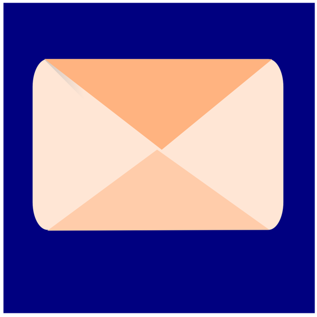 Inbox envelop message, computer communication.