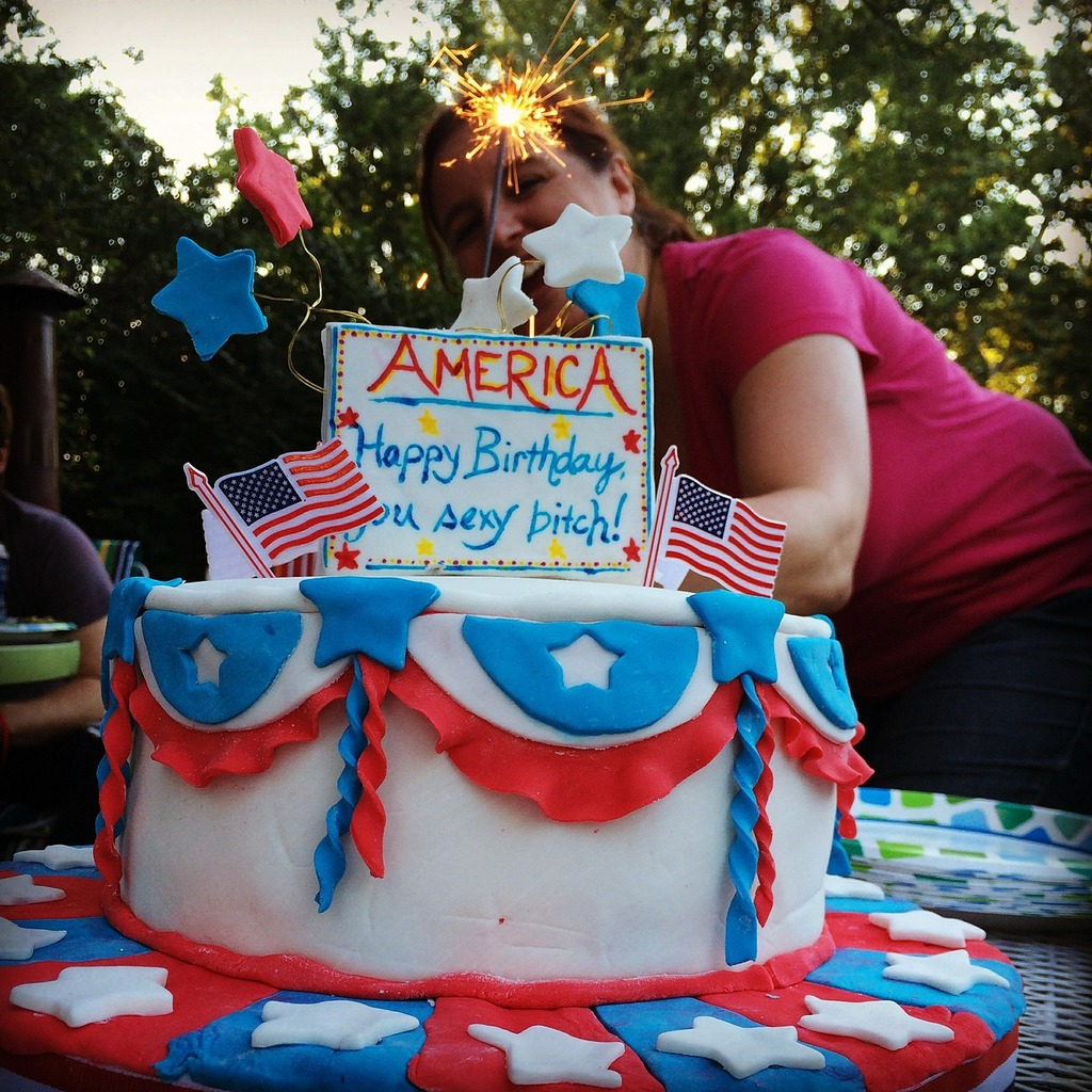 Independence day 4th of july cake.