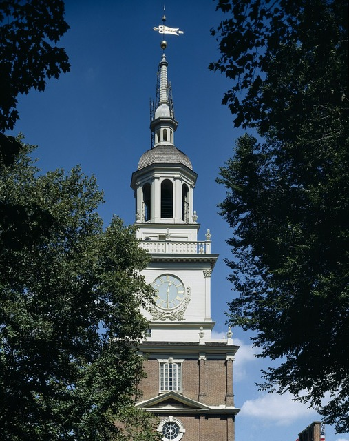Independence hall steeple tower, architecture buildings.