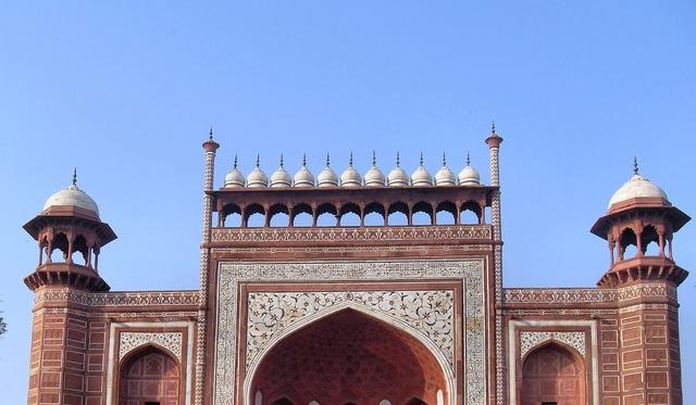India agra mosque, architecture buildings.