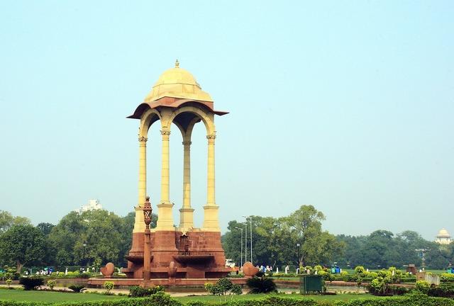 India delhi kiosk, architecture buildings.