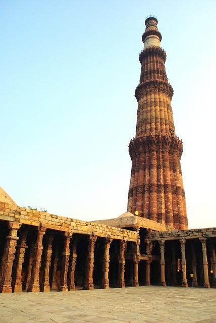 India delhi mosque, architecture buildings.