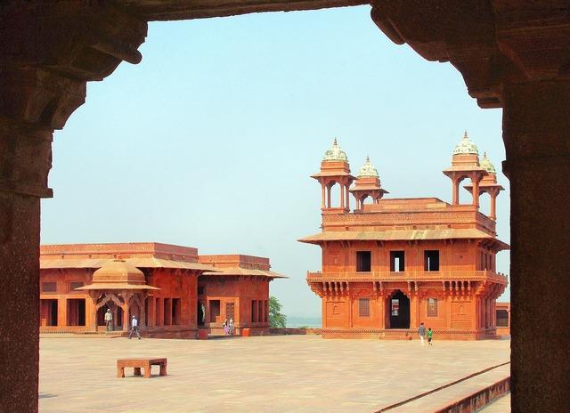 India fathepur sikri palace, architecture buildings.