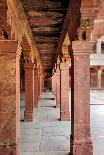 India fathepur sikri palace, architecture buildings.