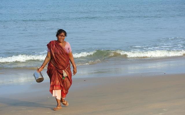 India fishwife woman, beauty fashion.